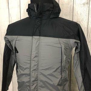 Marmot Youth L Black & Gray Hooded Rain Jacket